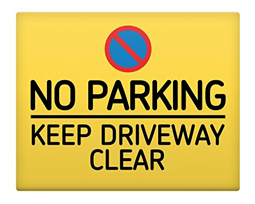 no-parking-keep-driveway-clear-8x10-metal-sign-premises-home-safety-35