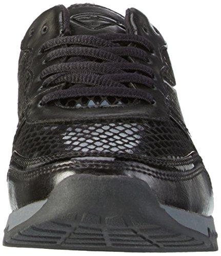 Tamaris 23602, Baskets Basses Femme Noir (Blk/Blk Str 069)
