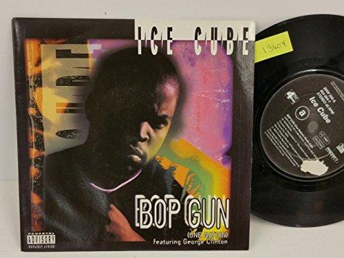 ICE CUBE FEATURING GEORGE CLINTON bop gun, PICTURE SLEEVE, 7 inch single, BRW 308 (Ice Cube Gun)