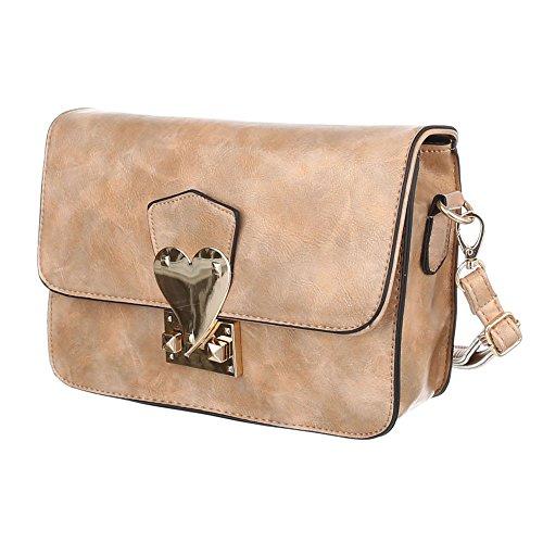 Ital-DesignSchultertasche Bei Ital-design - Borsa a spalla Donna marrone