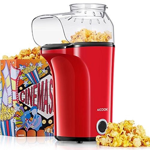 Aicook Machine à Pop Corn, 1400W Popcorn Popper...
