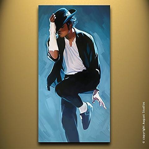 Michael Jackson originale Artista firmato pittura poster Stampa Su Tela # 3, Tela, 36