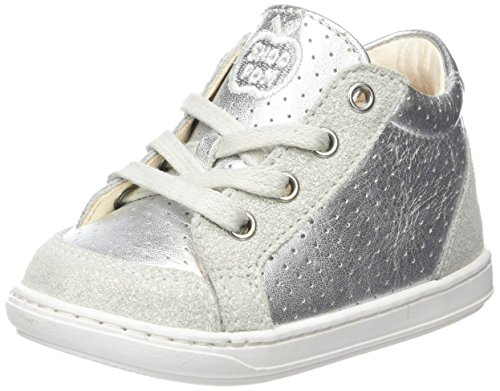Shoopom Bouba Zip Box, Baby Mädchen Babyschuhe - Lauflernschuhe Silberfarben