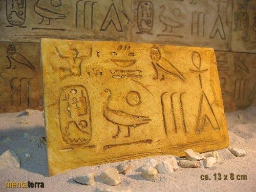 mentaterra Ägyptische Dekorfliese Nr. 1 Terrarium Rückwand Terrarien, 3 Stck.
