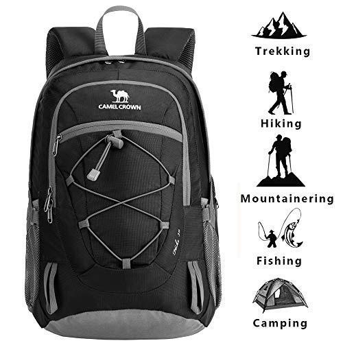 CAMEL CROWN Wandern Rucksack leichte Reise Packable langlebig wasserdicht Sport Daypack, für Camping Angeln Reise Radfahren Skifahren