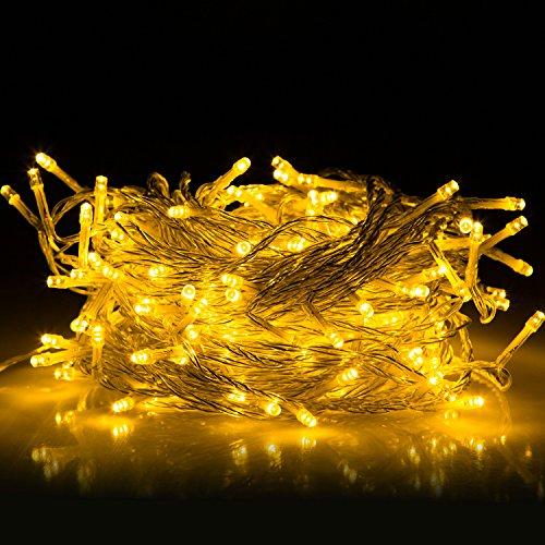 30M Guirlande Lumineuses, 8 Modes d'éclairage avec Fonction de Mémoire, 200 LEDs Lumières Décoration pour Jardin Maison Fête Noël Soirée Mariage, [Prise EU 31V DC]
