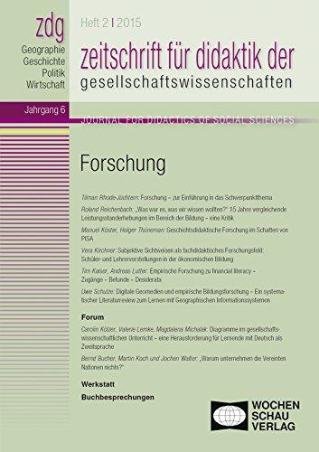 Forschung: Zeitschrift für Didaktik der Gesellschaftswissenschaften 2/2015