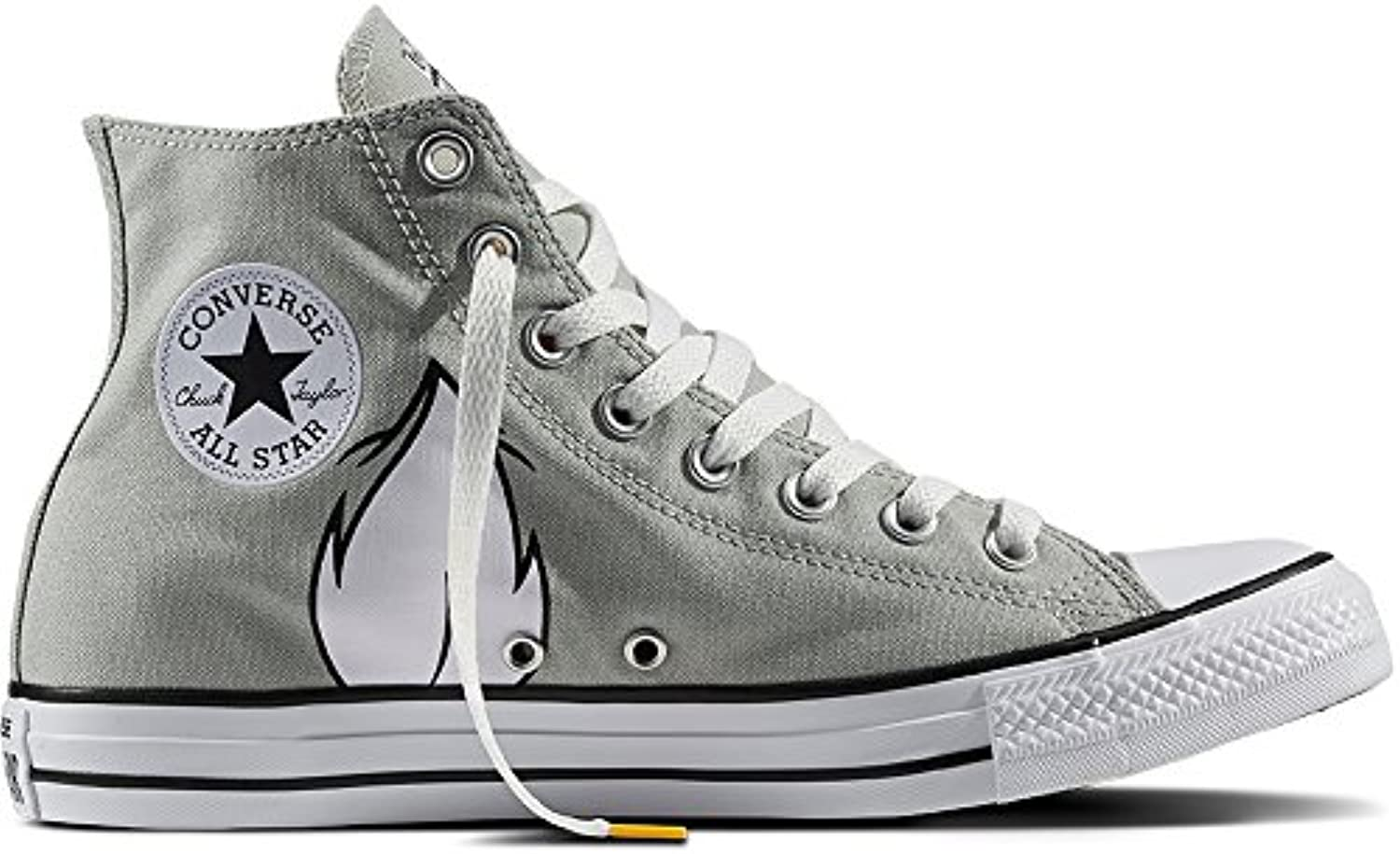 Converse Chuck Taylor All Star High Looney Tunes Rivalry Collection Bugs Bunny Grey White Black 158234C Limited