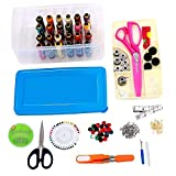 #6: HOME BUY Multipurpose Tailoring Sewing Tool Kit Accessories Supplies Threads Bobbins Needles Trimmers Buttons Hooks Scissors