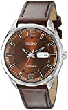 Seiko Men's SNKN49 RECRAFT Automatic Analog Display Japanese Automatic Brown Watch