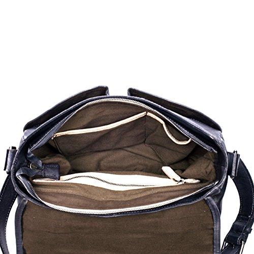 Bvane Borsa a tracolla traversa-corpo moda Donna marrone bronzo grigio