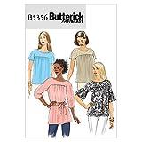 Butterick Patterns B5356 - Patrón para camisas de mujer y fajines (tallas L, XL y XXL), color blanco