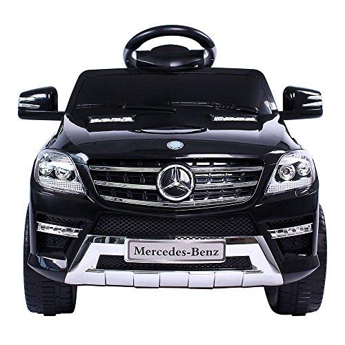 RC Auto kaufen Kinderauto Bild 2: Mercedes-Benz ML Kinder Auto Elektroauto Kinderauto Elektrofahrzeug Kinderfahrzeug mit 2 Motoren MP3 Fernbedienung. Farbe: Schwarz*