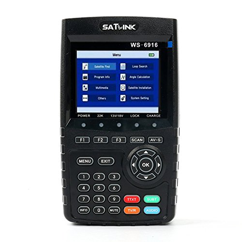 Satfinder SATLINK DVB-S / S2 HD Digital Satellitenfinder TV Signal Finder Meter mit MPEG-2 / MPEG-4 (WS-6916)