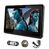 Lecteur DVD Naviskauto Full HD de 25cm pour appuie-tête de voiture, écran LCD TFT, moniteur multimédia pour voiture, télécommande incluse, adaptateur d'alimentation résidentiel