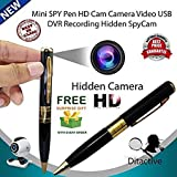 #3: Real Spy Pen Hidden Camera, Mini Camera for HD Video and Voice Recorder with USB port, memory card can be inserted, and ( Get A Free surprise Assorted Gift With Purchase Of This Product From ZED BONE)