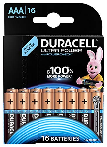 Duracell Ultra Power Alkaline AAA Batterien, 16er Pack