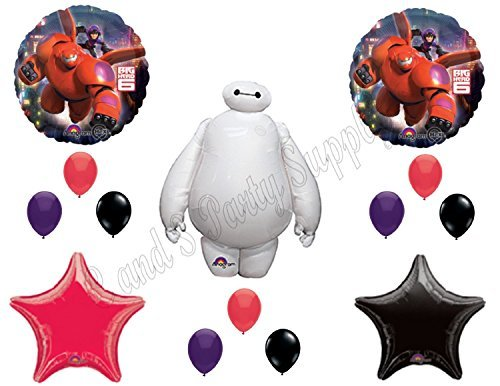 NEW!! BIG HERO 6 Disney Balloons Birthday party Decoration Supplies Hiro Baymax Movie by Anagram - Party Hero Big 6 Supplies
