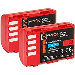 2X Baxxtar Pro Batterie pour Panasonic DMW BLF19 E avec info Puce - pour Panasonic Lumix DC G9 GH5 GH5s DMC GH3 GH4 GH4r / Sigma BP-61 etc.