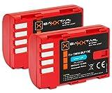 2x Baxxtar Pro Akku für Panasonic DMW BLF19 E mit Infochip - Für Panasonic Lumix DC G9 GH5 GH5s DMC GH3 GH4 GH4R/Sigma BP-61 usw.