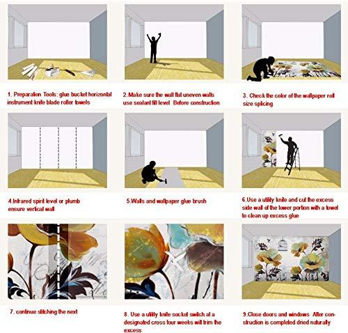 Apoart 3D Wandtapete Kundenspezifischer Wandbild Schockierter Raum Ausgedehnter Flughafen-Aufzug-Hintergrund-Tapeten-Restaurant-Studio-Wandgemälde140Cmx100Cm