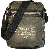 Avirex Collezione 140506, Borsello Tracolla Grande, Cross-body Bag Large, Borsa Uomo, Colore Verde Kaki
