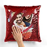 Mukesh Handicrafts Personalized Magical Gifts Cushion with 1 Photo Size 16x16 inches
