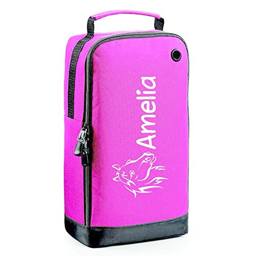 51NcP0OhpCL BEST BUY UK #1iClobber Pony Head Horse Riding Accessory Shoe Bag Personalised with your choice of name   Pink price Reviews uk