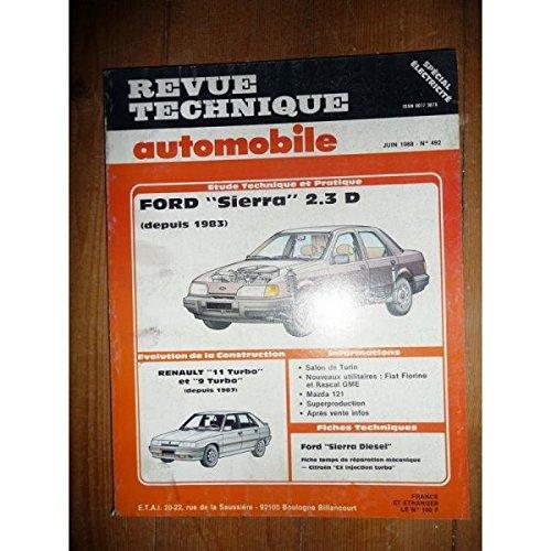 RTA0492 - REVUE TECHNIQUE AUTOMOBILE FORD SIERRA 2.3 D depuis 1983