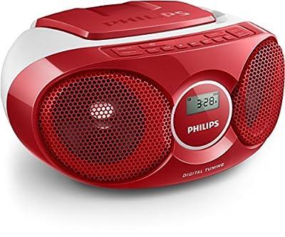 Philips AZ215 Radio/Radio-réveil Lecteur CD/CD-R/CD-RW/Syntoniseur FM