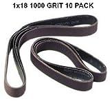 2,5x 45,7cm (2,5cm x 45,7cm) 1000Grit Schleifbänder–10PACK Siliziumkarbid passt Ken Onion Klinge Schleifen Attachment