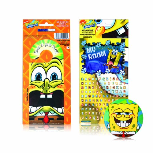 Spongebob Schwammkopf - My Room Sticker Pack - Sticker Style (Spongebob Schwammkopf Party Supplies)