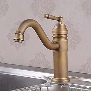 Rétro Plat Full Cuivre cuisine robinet salle de bain lavabo robinet