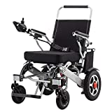 Sedia a Rotelle Elettrica Pieghevole Leggera per Anziani Disabili Sedia a Rotelle di Aiuto alla Mobilità Compatta Carrozzina per Trasporto Scooter