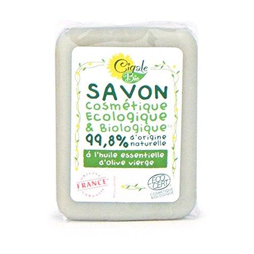 Savon de Marseille Bio, La Cigale , à l'huile d'olive vierge - 100 grammes