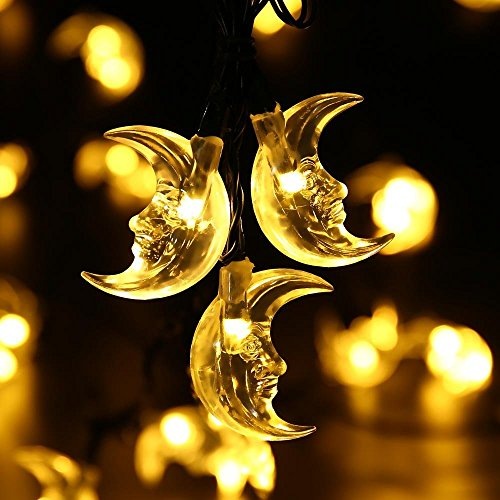 JOJOO solare LED luci della stringa Christmas Lights - 20ft (5m) 30 LED scaldano Luci (Corda Solare)