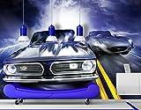 Papiertapete - Fototapete No.103 'FURIOUS RACE' 400x280cm Sportwagen Autos , Größe:280cm x 400cm
