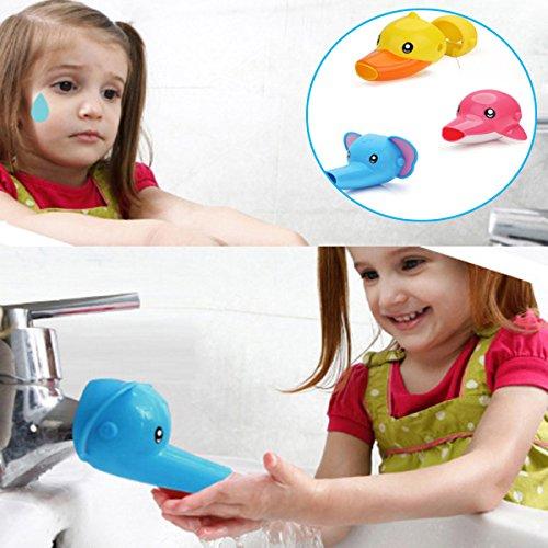 seguryy Extender, 1 Stück, aus Kunststoff, im Cartoon-Tier-Form für Kinder Kleinkinder Kids Hand waschen (Waschen Klappe)