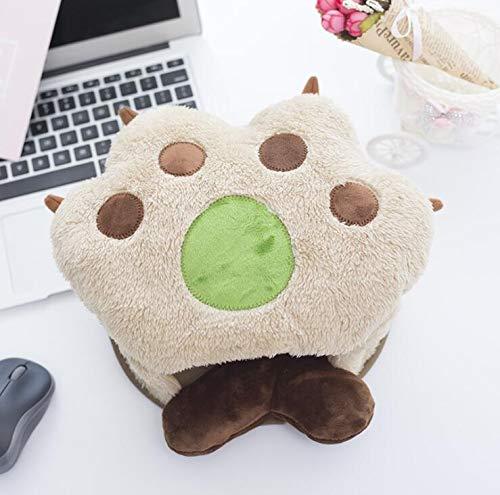 Tapis de souris chauffant USB en forme de patte d'ours Tapis de souris plus chauds pour(kaki)