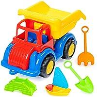 6 Piece Beach Dump Truck Set Beach Toy- Perfect Toy for Beach, Sandpit, Sand Castle, Park or Garden