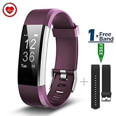 CHEREEKI Fitness Tracker Heart Rate Monitor Activity Tracker 0.96'' Touch Screen Smart GPS Bracelet Sports Wristband Pedometer Smartwatch with Message Push Caller ID for Android and iPhone iOS Smartphone from GSTEK