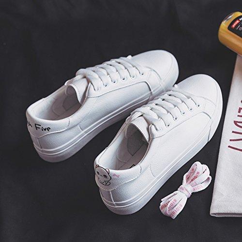 Wuyulunbi@ Scarpe bianche, molla scarpe scarpe scarpe Bianco