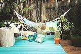 Fab Hab - Cancun - Türkis & Moosgrün - Teppich/ Matte für den Innen- und Außenbereich (180 cm x 270 cm)