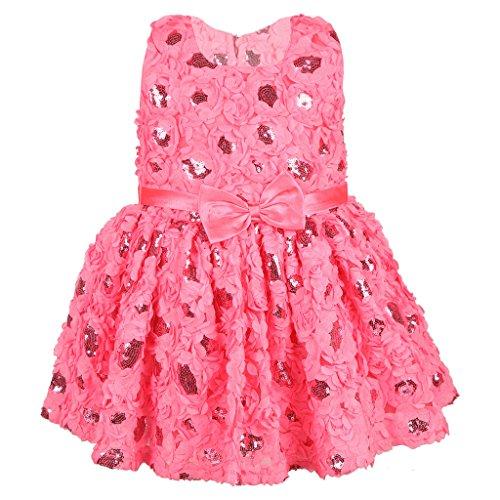 Kid 1 Girls A-Line Dress (KAPGP112PI01_Pink_1-2 Years)