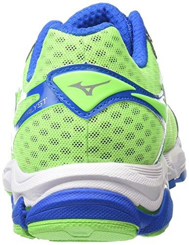 Mizuno Herren Wave Catalyst Laufschuhe Green (Green Gecko/Silver/Skydiver)