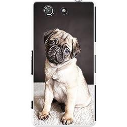 Funda de cahorro Pug para teléfonos móviles, plástico, Pug On A Rug, Sony Xperia Z3 Compact