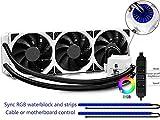 DEEPCOOL Captain 360 EX White RGB Wasserkühler,3x120mm Lüfter,360mm Radiator,2x350mm LED Strip,12V 4pin,3 Jahre Garantie
