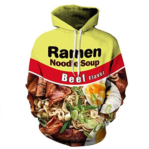 dies 3D Printed Nudel Frauen Männer Sweatshirts Kapuzenpullover Mäntel Tops Trainingsanzug Unisex Md8076 S ()