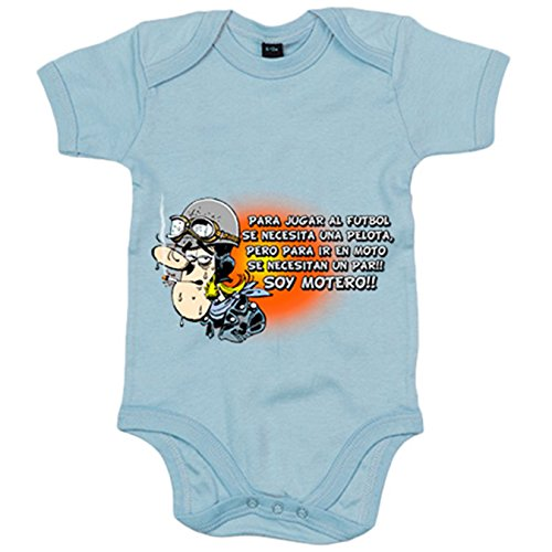 Body bebé para ir en moto se necesita un par soy motero - Celeste, 12-18 meses