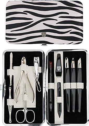 TROIS EPÉES | Kit / set / ensemble / trousse de manicure – manucure – pédicure – beauty / beaute – soins des ongles / personnels / mains / pieds | 11 pièces | Fabriqué à Solingen - Allemagne (621009)